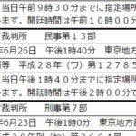 6月26日は東京地裁で<br/>全国部落調査事件第5回口頭弁論です