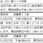 12月25日11時から<br/>東京地裁で第7回口頭弁論
