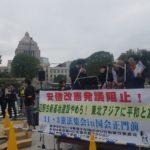 国会議事堂前で木霊した韓国「ノーアベソング」